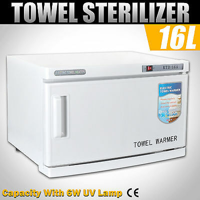 16L UV Sterilizer Cabinet Face Towel Warmer Disinfection Heater Salon Beauty Spa