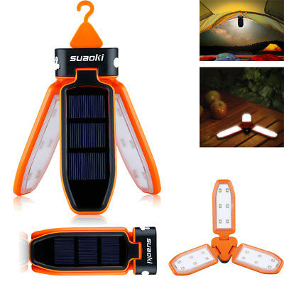 Portable 18 LED Rechargeable Solar Camping Outdoor Lantern Waterproof Light Lamp