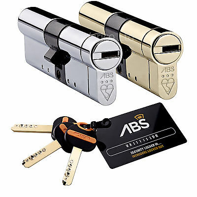 Avocet Abs High Security Euro Cylinder Door Lock For Upvc Anti Snap 3 Star