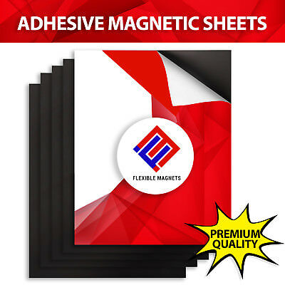 60 mil STRONG ADHESIVE MAGNETIC MAGNET SHEET - 8x10 in. - GREAT FOR PHOTOS ETC.
