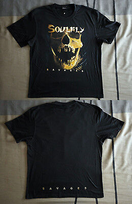 """Soulfly official T-shirt """"Savages"""" black (M,L,XXL) NEW"""