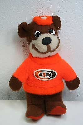 Vintage A&w Root Beer - Rooty Bear - Beloved Toys - Plush Mascot 1970's