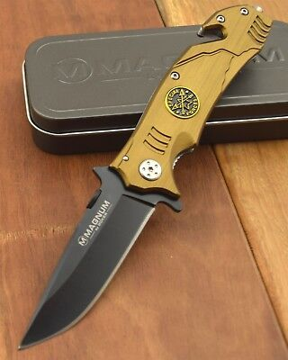 Boker Magnum Special Forces Rescue Pocket Knife 440 Thumb Stud  Knives 01SC154