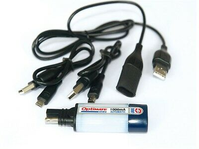 OptiMate USB charger SAE loads USB compatible Devices when Motorrad driving
