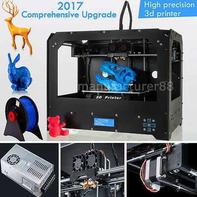 CTC Dual Extruders 3d Printer, Optimized Build Platform, Heated bed, 1 Filament
