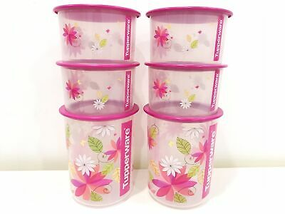 Limited 1 set Tupperware Lovely seal with one touch canister container storage