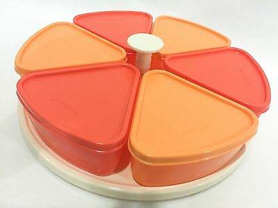 Limited Tupperware Serving Centre Snack Dish Platter Serve Party Carousel