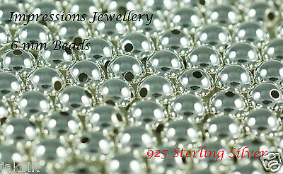 925 Sterling Silver 6mm beads 20 Pcs