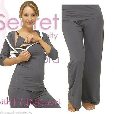 Comfy Demi Yoga Maternity Pants pair with Nursing Tops, Dusty Pink, 12,14 SALE