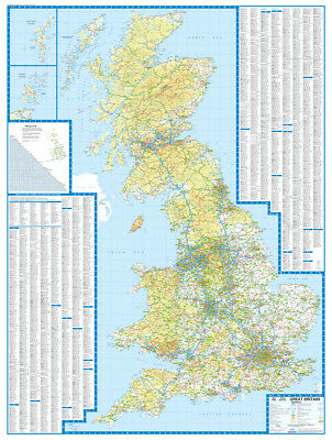 A Z Map Of England.Central England Wales Road Map By A Z Maps Wall Map Paper 2019