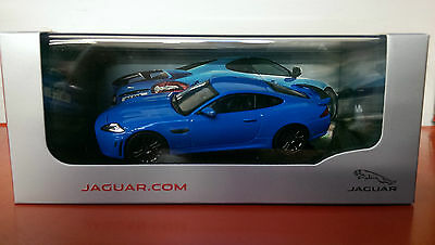 Genuine Jaguar XKR-S 1:43 Scale Diecast Model - French Racing Blue
