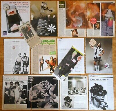 RED HOT CHILI PEPPERS 1990s/10s clippings photos magazine pictures cuttings