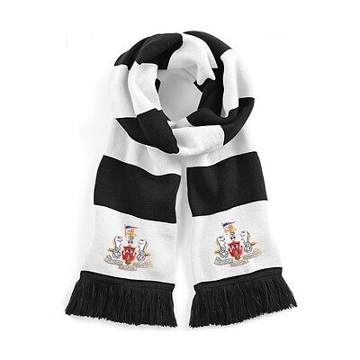 Retro Newcastle United 1960's Traditional  Football Scarf Embroidered Logo 194cm