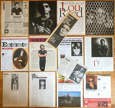 LOU REED clippings 1970s/10s magazine articles photos velvet underground