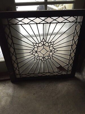Sg 440 Antique Sunray Design Landing Window Textured Glass