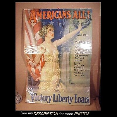 Original 1919 WWI Howard Chandler Christy Americas All Victory Liberty Loan