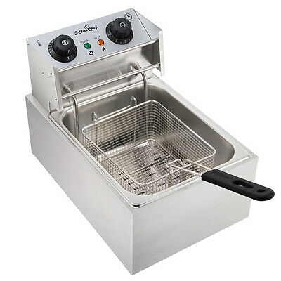 5-Star Chef Stainless Steel Electric Single Deep Fryer W/ Auto Thermostat