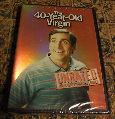 The 40-Year-Old Virgin (DVD, 2005, Widescreen; Unrated) NEW SEALED