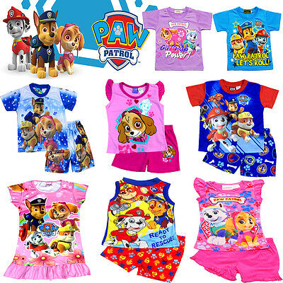 NEW Sz 1~12 KIDS SUMMER PYJAMAS BOYS OUTFITS TEES PJS SLEEPWEAR NIGHTIE TSHIRT
