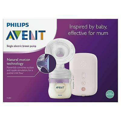 BRAND NEW PHILIPS Avent Natural Comfort Single Electric Breast Pump SCF332/01