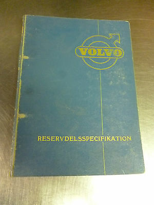 Original parts specification book for the Volvo D67A motor