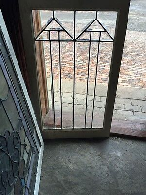Sg 452 Beautiful Antique Arts And Crafts Beveled Glass Window Aero Design