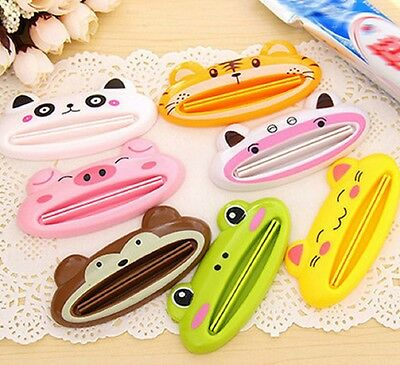 Cute Cartoon Animal Toothpaste Squeezer Tube Dispenser Roll Holder Tooth Paste