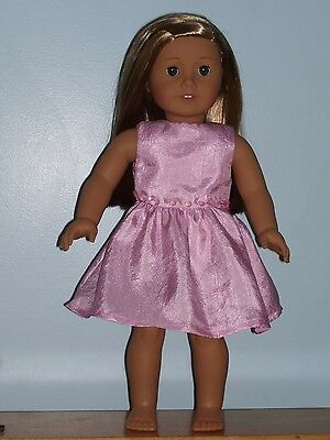 """Beautiful Pink Party Dress For 18"""" American Girl Doll"""