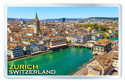 Zurich Switzerland Mod2 Fridge Magnet Souvenir Iman Nevera