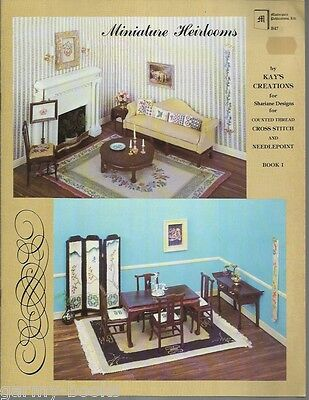 Miniature Heirlooms 1 Kay's Creation Dollhouse Counted Cross Stitch Pattern Book