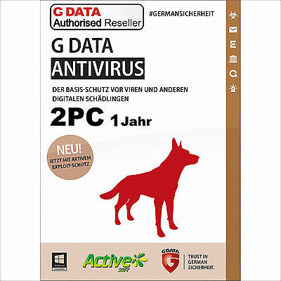 G DATA AntiVirus 2 PC 2018 Vollversion | Upgrade 1 Jahr GDATA Security NEU UE