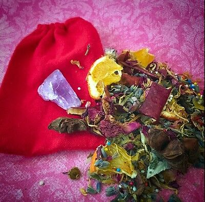 Love Mojo Bag Attraction Come to Me Ven A Mi Reconnection Herbal Apothecary