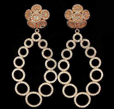 Dream Chandeliers Circles und Flowers Rose gold from 925 Sterling Silver