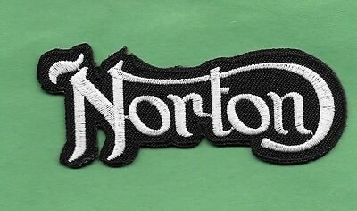 "New Norton British Motorcycles 1 1/4 X 3 1/4 "" Inch Iron on Patch Free Shipping"