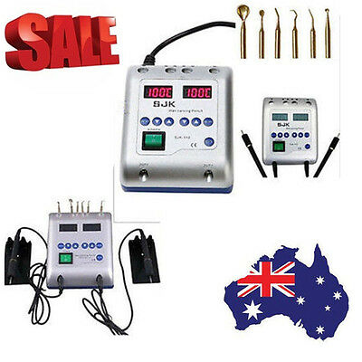 Dental Lab Electric Wax Waxer Carver Carving Knife +Double Pen Pencil+6 Wax Tips