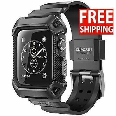 Supcase Rugged Protective Case Apple Watch 42mm With Strap Bands Black