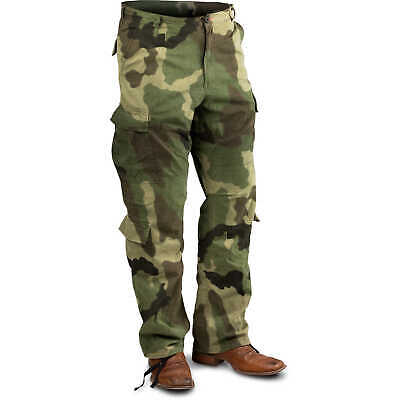 "Woodland Camo, Small Vintage Paratrooper Fatigue Pants, (27""-31"")"