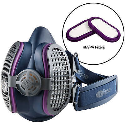 GVS Elipse Half-Mask Respirator with HESPA + P100 Filters, Medium/Large