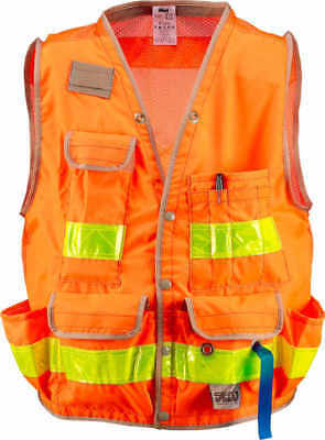 "SECO Class 2 Surveyor's Vest with Mesh Back Orange Medium 44""-46"" Chest"