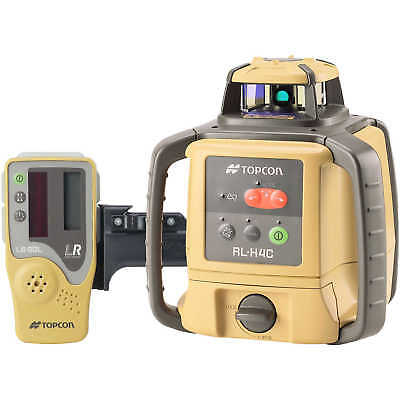 Topcon RL-H4C Self-Leveling Laser Level with Alkaline Batteries and LS-80L La...