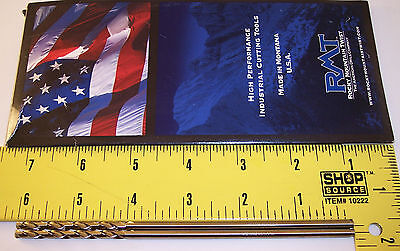 "nEw RMT USA ~ cobalt #21 / .159"" loNg ~ Drill Bit set ~ machinist aircraft tool"