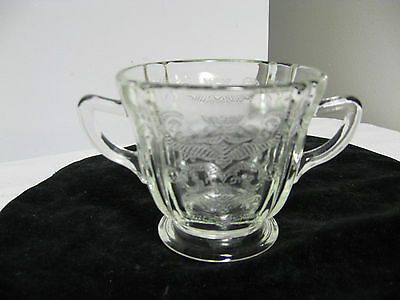 Older Indiana Federal Clear Madrid Recollections Handled Sugar Bowl-Yellowish
