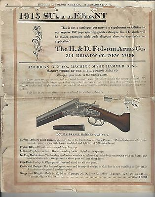 H. & D. Folsom Arms - 1915 Supplement to Catalog No.11