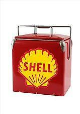Retro Steel Classic Shell Ice Cooler Metal picnic Cooler with Bottle Opener