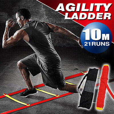 New Agility Speed Sport Training Ladder 8M - Soccer Fitness Boxing 21 Rungs Bag