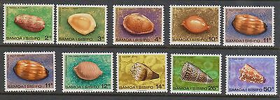 (KPI-98) 1970 Samoa partial 10set of shell stamps 2c to 50c MUH