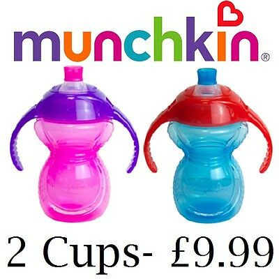 Munchkin Click Lock Trainer Cup CHEW PROOF! Baby's First Cup Sippy Cup 6M+