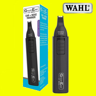 Wahl Dual Head Battery Powered Wet & Dry Nasal Ear Facial Hair Trimmer 5545-516