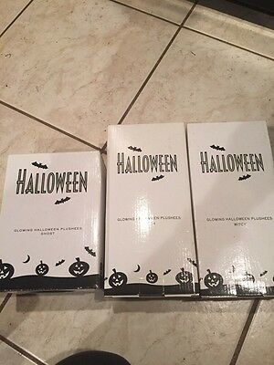Lot Of AVON Halloween Glowing Ghost And Witch Witches New In Box Doll Decoration