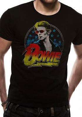 DAVID BOWIE SMOKING BLACK OFFICIAL T-SHIRT Unisex - Cool Red Sunglasses design